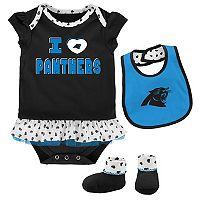 Baby Carolina Panthers Team Love Bodysuit Set