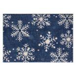 St. Nicholas Square® Supersoft Snowflake Rug