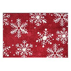 St Nicholas Square Supersoft Snowflake Rug