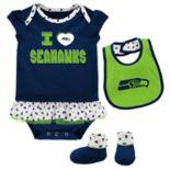 Baby Seattle Seahawks Team Love Bodysuit Set