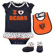 Baby Chicago Bears Team Love Bodysuit Set