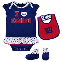 Baby New York Giants Team Love Bodysuit Set
