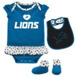 Baby Detroit Lions Team Love Bodysuit Set