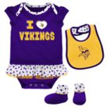 Baby Minnesota Vikings Team Love Bodysuit Set