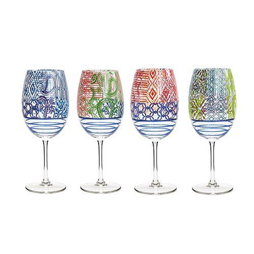 Fitz & Floyd 4-pc. Wine Goblet Set