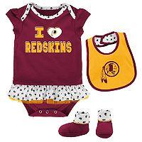 Baby Washington Redskins Team Love Bodysuit Set