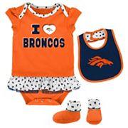 Baby Denver Broncos Team Love Bodysuit Set