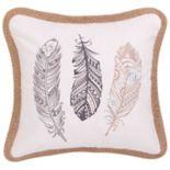 Tammy Feathers Throw Pillow