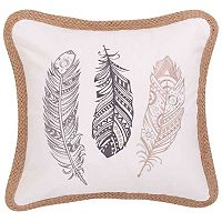 Tammy Feathers Throw Pillow
