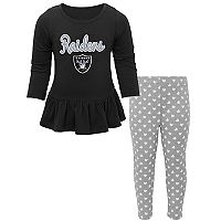 Baby Oakland Raiders Tiny Trainer Tee & Pants Set
