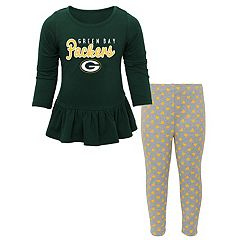 Toddler Girl Green Bay Packers Tiny Trainer Tee & Pants Set
