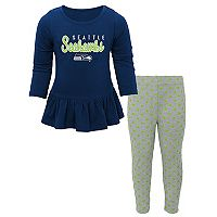 Baby Seattle Seahawks Tiny Trainer Tee & Pants Set