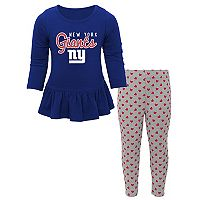 Baby New York Giants Tiny Trainer Tee & Pants Set