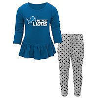 Baby Detroit Lions Tiny Trainer Tee & Pants Set