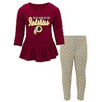 Baby Washington Redskins Tiny Trainer Tee & Pants Set