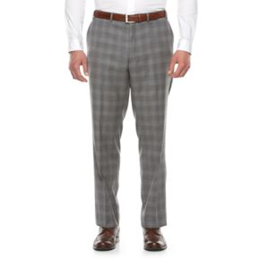 Big & Tall Shaquille O'Neal Classic-Fit Wool Flat-Front Suit Pants