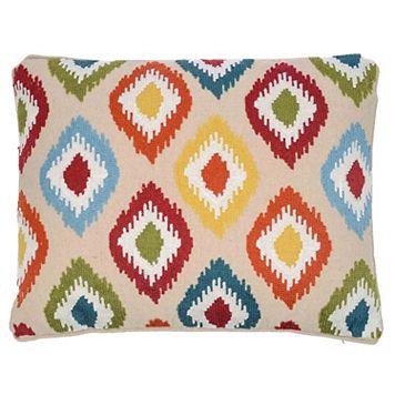 Hazel Ikat Throw Pillow