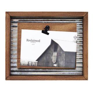 "New View Farmhouse Industrial 4"" x 6"" Photo Clip Frame"