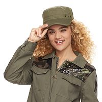 madden NYC Women's Canvas Embroidered Stars Cadet Hat