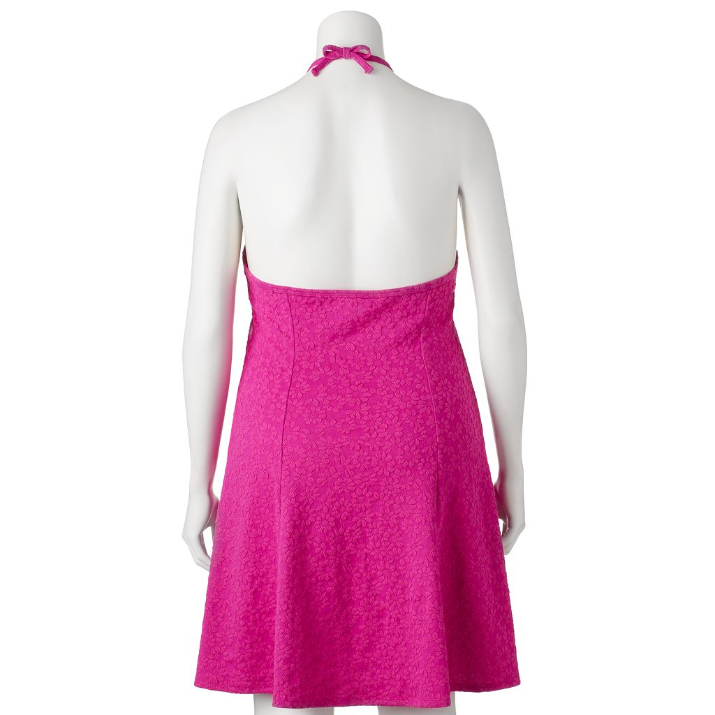 Juniors' Plus Size SO® Textured Halter Dress