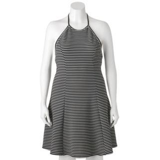 Juniors' Plus Size SO® Striped Halter Dress