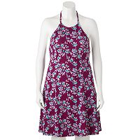 Juniors' Plus Size SO® Floral Halter Dress