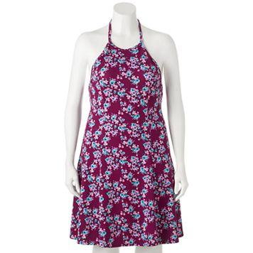 Juniors' Plus Size SO® Floral Halter Dress