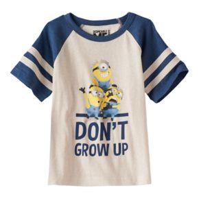 """Toddler Boy Despicable Me Minions """"Don?t Grow Up"""" Raglan Tee"""