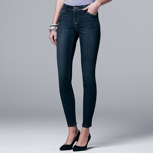 Petite Simply Vera Vera Wang Everyday Luxury Midrise Skinny Jeans