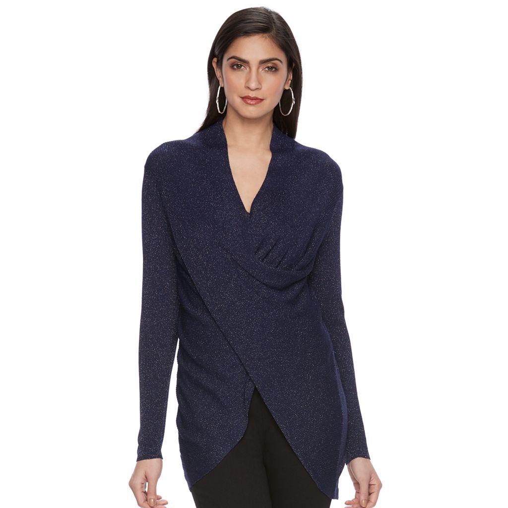 Women's Jennifer Lopez Twist-Front Sweater