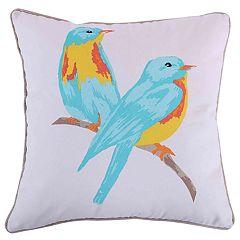 Margo Watercolor Birds Throw Pillow