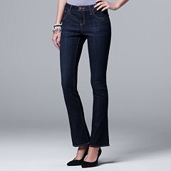 Petite Simply Vera Vera Wang Everyday Luxury Midrise Bootcut Jeans