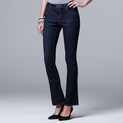 Petite Simply Vera Vera Wang Everyday Luxury Midrise Bootcut Jeans