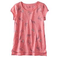 Girls 7-16 SO® High-Low Hem Ringer Tee