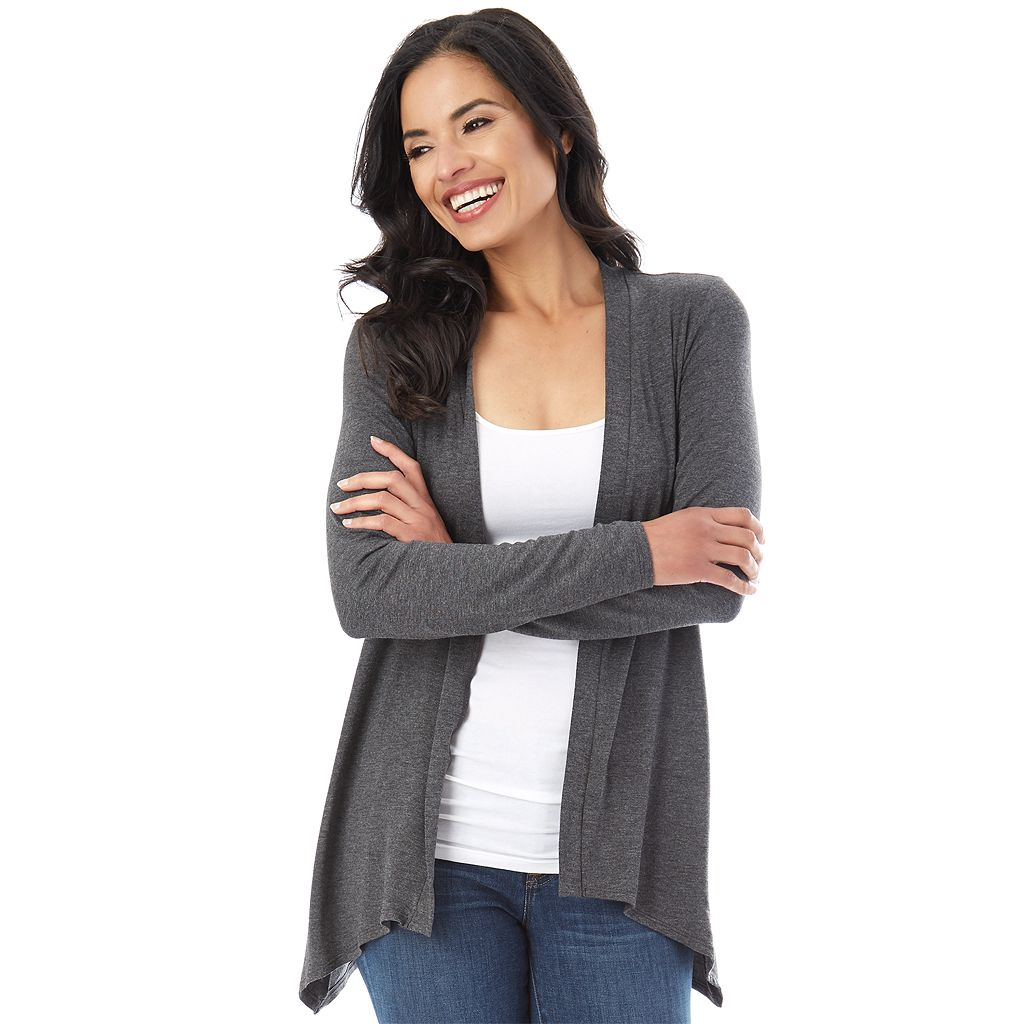 Women's Apt. 9 Lace Back Cozy Cardigan