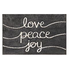 St. Nicholas Square® Supersoft 'Love Peace Joy' Rug