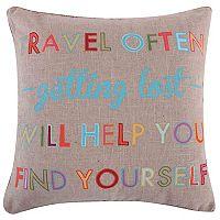 Margo Travel Often Throw Pillow