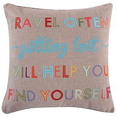 Margo Travel Often Throw Pillow