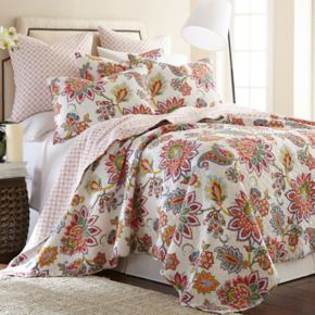 Palladium Coral 2-piece Twin Quilt Set