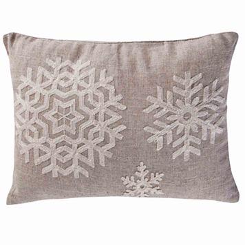 Parke Snowflake Throw Pillow