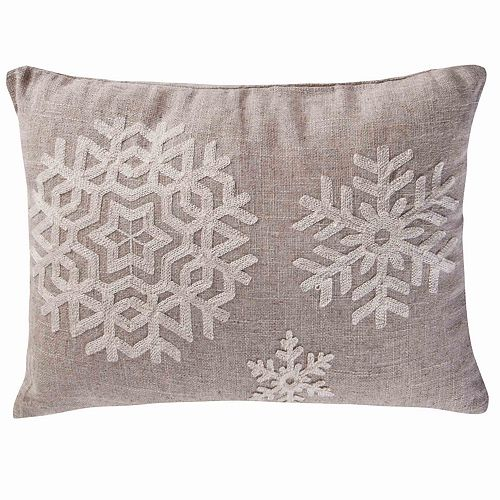 Parke Snowflake Throw Pillow