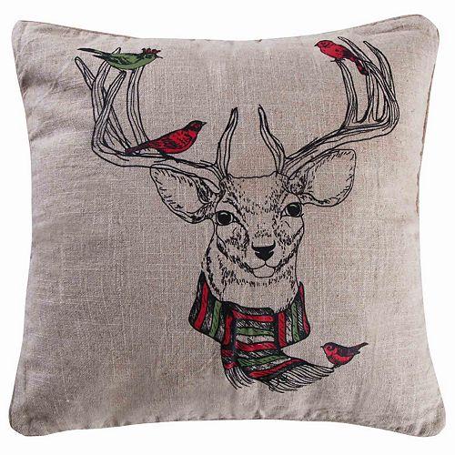 Parke Deer Throw Pillow