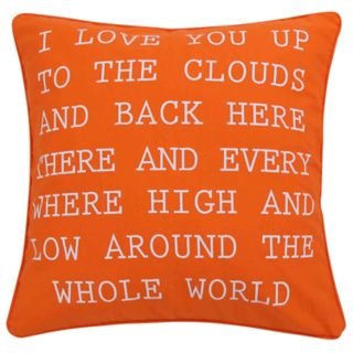 Janet I Love you Throw Pillow