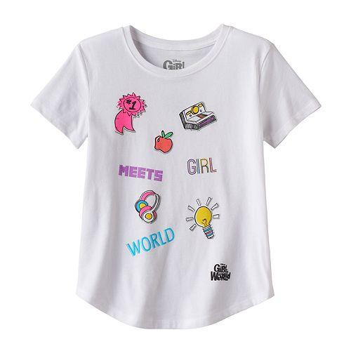 Disney's Girl Meets World Girls 7-16 Curved Hem Graphic Tee