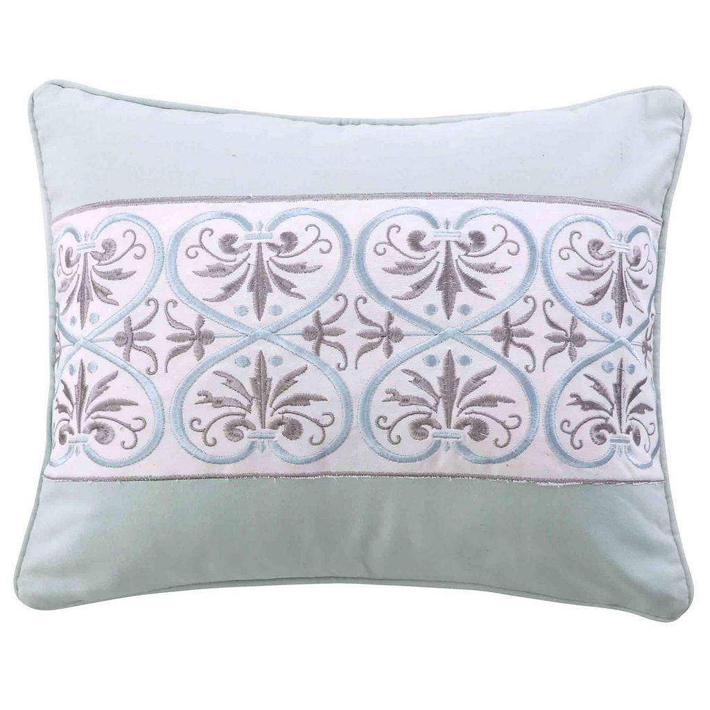 Lindsey Spa Embroidered Metallic Throw Pillow