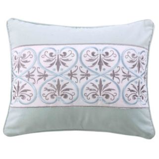 Lindsey Spa Embroidered Metallic Throw Pillow
