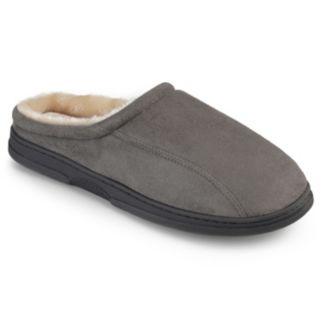 Perry Ellis Men's Microsuede Clog Slippers