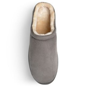 Perry Ellis Men's Microsuede Clog Slippers