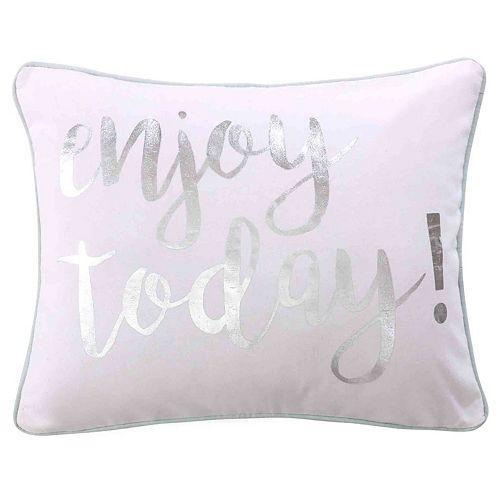 Lindsey Spa Enjoy Today Throw Pillow