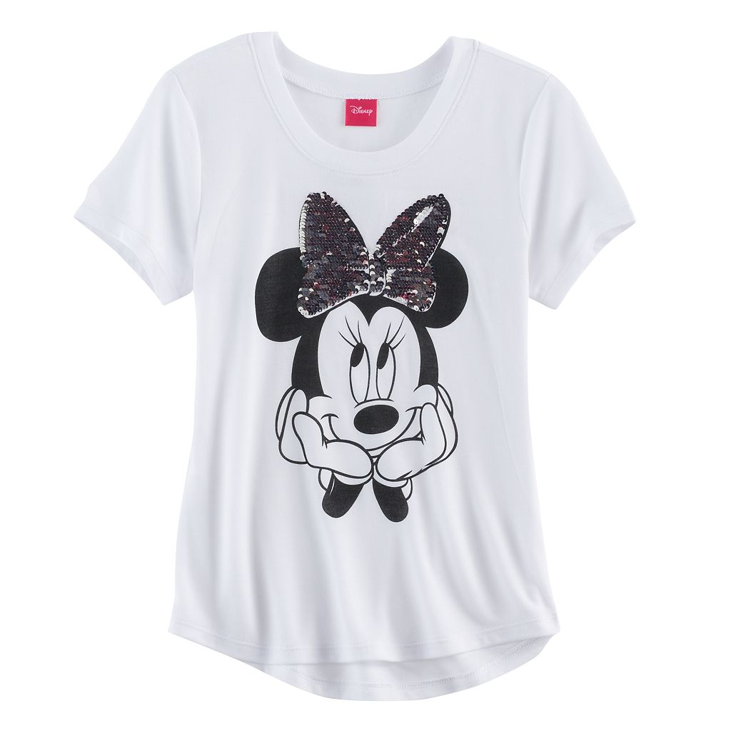 Disney's Minnie Mouse Girls 7-16 Flip Sequin Bow Tee